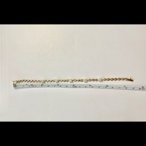 """Jewelry - Real 10k Yellow Gold Women's Opal Bracelet 7"""""""